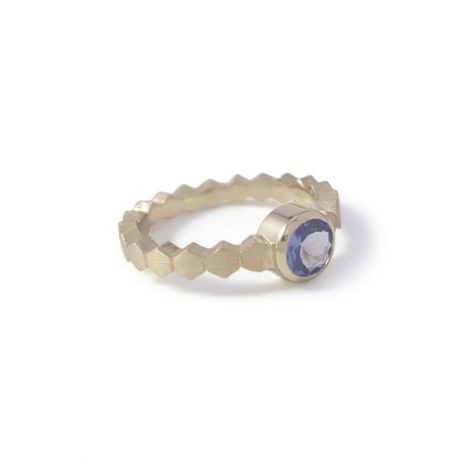 Gouden Tanzaniet Ring Hexa