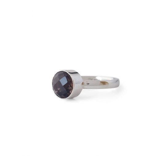 Zilveren Ring Met Rookkwarts