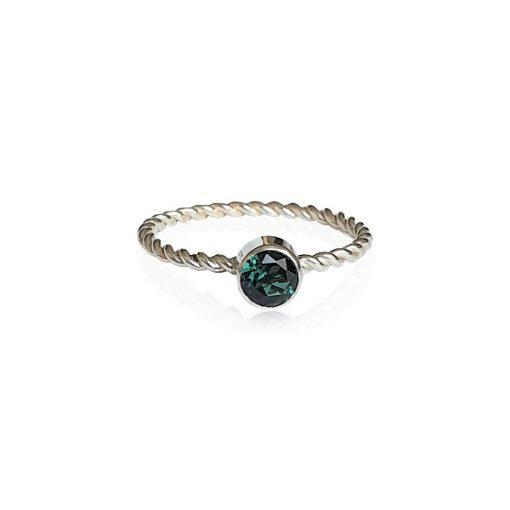 Twist Ring Groene Toermalijn