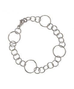 Zilveren Schakelarmband Cirkels