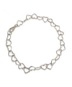Zilveren Hartjes Armband