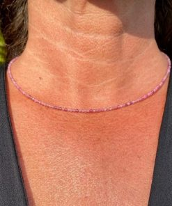Edelstenen Roze Toermalijn Collier